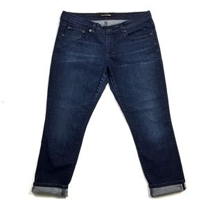 Big Star Stretch Dark Wash Denim Cropped Jean